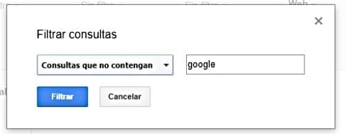 Novedades Search Console fitro consultas