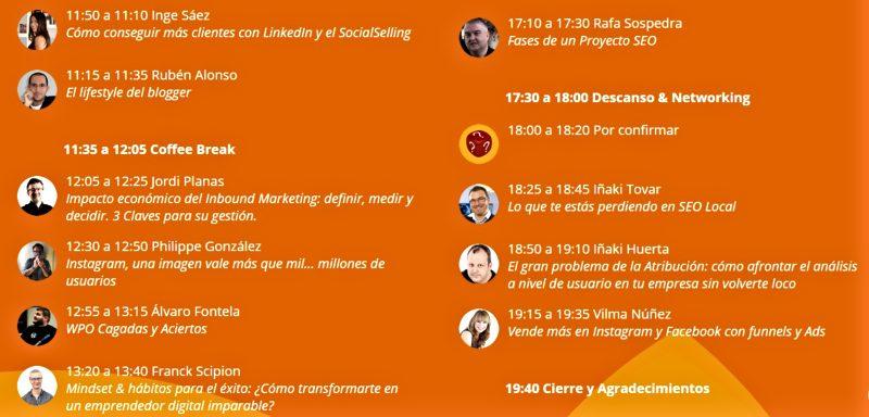 DSM Valencia ponencias y ponentes del congreso de marketing digital.